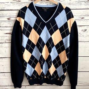 Brooks Brothers Supima Cotton Argyle Sweater XXL